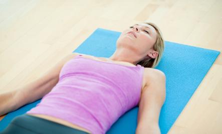 Поза йоги савасана