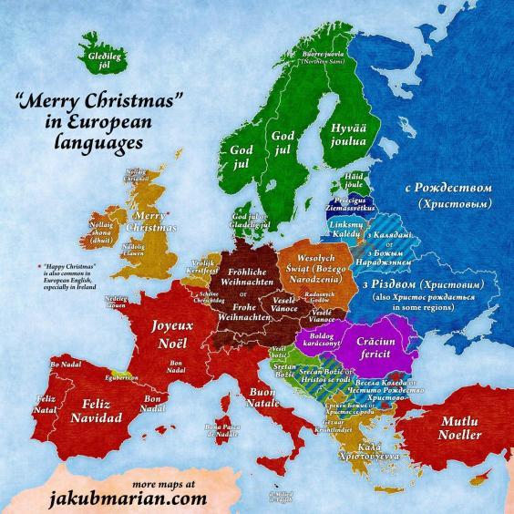 Карта рождественских поздравлений