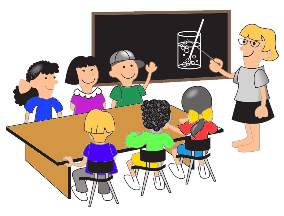 Учитель и школьники
